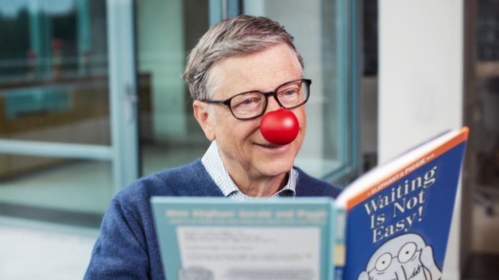 Bill Gates's photo on #RedNoseDay