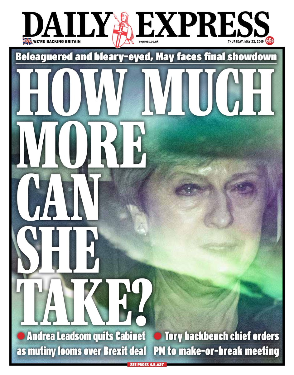 """Thursday's Express: """"How much more can she take?"""" (via @hendopolis) #tomorrowspaperstoday"""