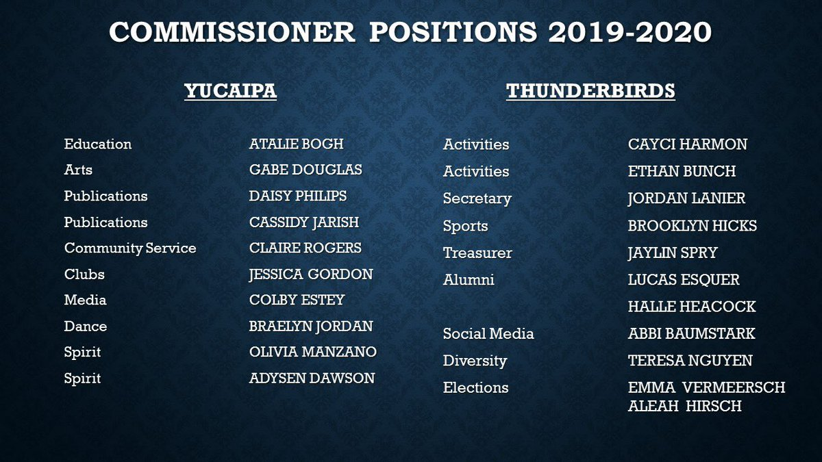 5e7c137467 Congratulations to the rest of the 2019-2020 Student Council Members! ⚡  https://t.co/8jC8fQ9Vpg