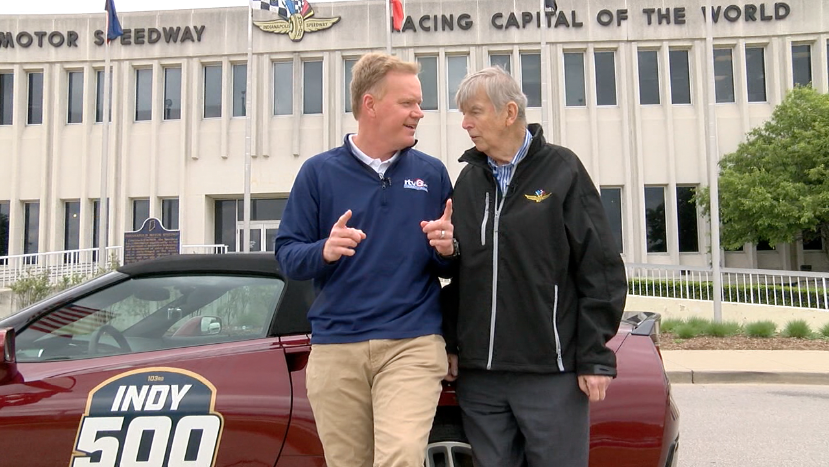 What else do you do when offered an #Indy500 festival car, for a few hours, than take Donald Davidson out for donuts. Now, who do I ask to make this an annual thing? The story tonight, during The News at 6, on @rtv6. @IMSMuseum