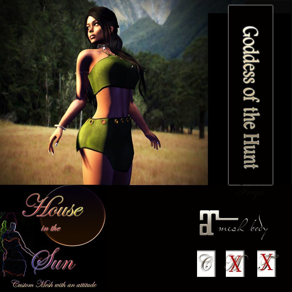 HOUSE IN THE SUN - New Goddess of the Hunt Outfit at Mainstore #secondlife #sl #mainstoresl https://t.co/uCLxNOJY69 https://t.co/kJ94SPM2ga