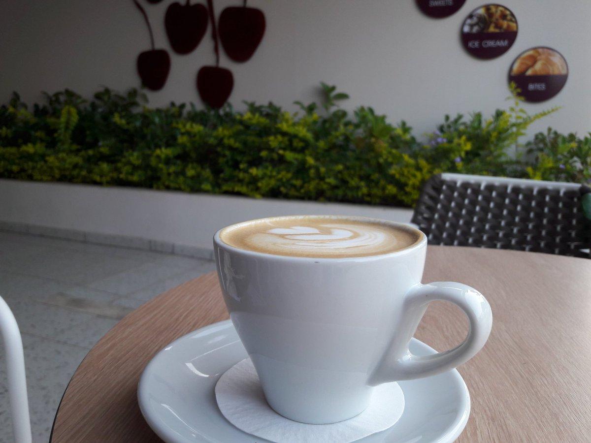 cappuccino guest coffee @OutpostRoasters #Brazil Café Amárena #coffee #CyprusCoffeeTrail #Protaras #Cyprus https://t.co/rlHQ92QxmE