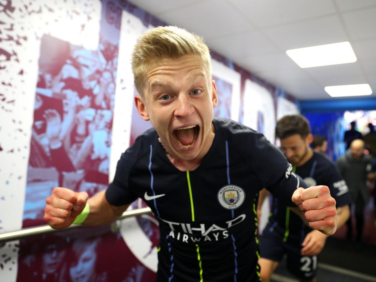 """Oleksandr Zinchenko:""""It's been an unbelievable season, seriously, nothing more. I can't even describe this moment and I don't think no one can do this again.We did an unbelievable job and we have made history, nothing can take that away from us...""""#MCFC"""