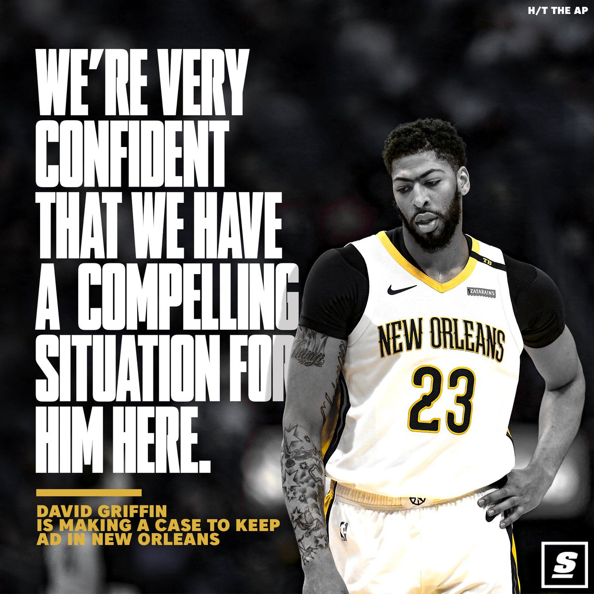 David Griffin says the Pelicans are creating the 'right environment' to keep Anthony Davis. http://thesco.re/2WjgeJM