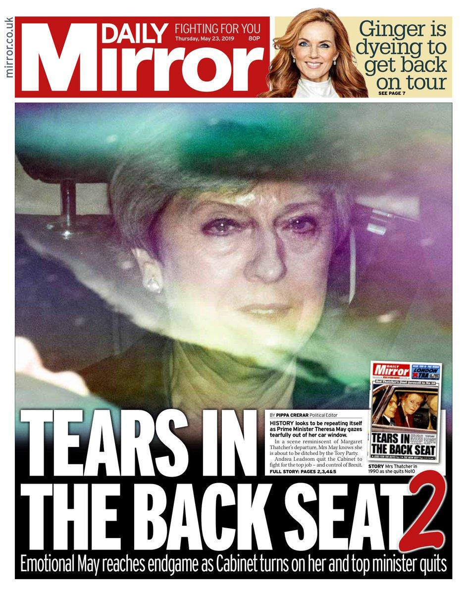 "Thursday's Mirror: ""Tears in the back seat 2"" (via @hendopolis) #tomorrowspaperstoday"