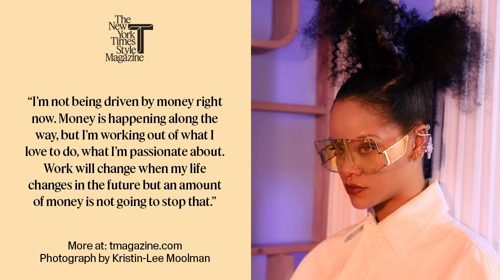 For @Rihanna, it's not about the money nyti.ms/2HKQf4F