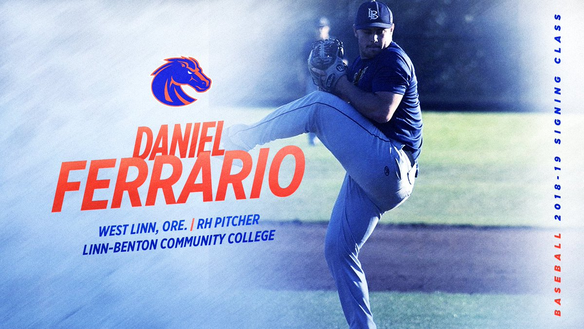 Another arm joins our pitching stable. Oregon native @ferrario_daniel is now a Bronco! #BleedBlue<br>http://pic.twitter.com/QhsqKkCApM