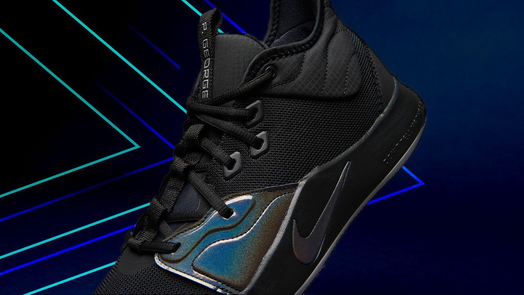 online store e95f8 1b41f heat Nike drops black colorway iridescent detailing Nike ...