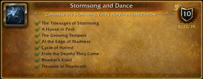 I just earned the [Stormsong and Dance] Achievement! #Warcraft<br>http://pic.twitter.com/yC84MQ38uN