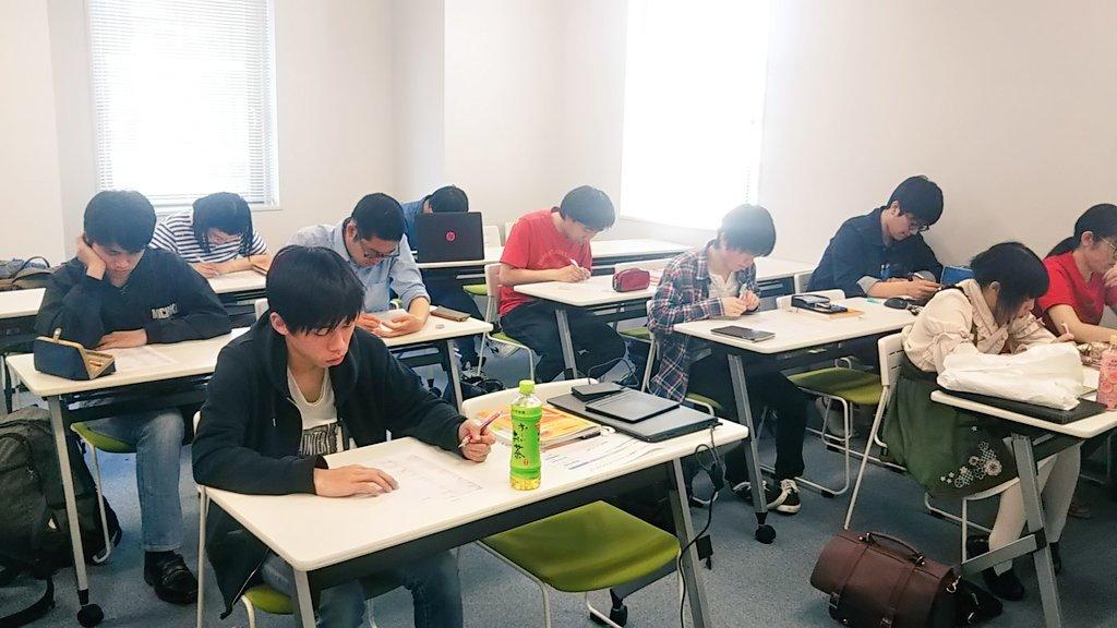 ゲームカレッジ2年生の就職対策の授業中です?❗今は小テストを受けてます?みんな就職活動に向けて、着々と準備をしています❗?#京都 #四条 #専門#総合学園ヒューマンアカデミー#ゲーム #就職活動 #就職対策