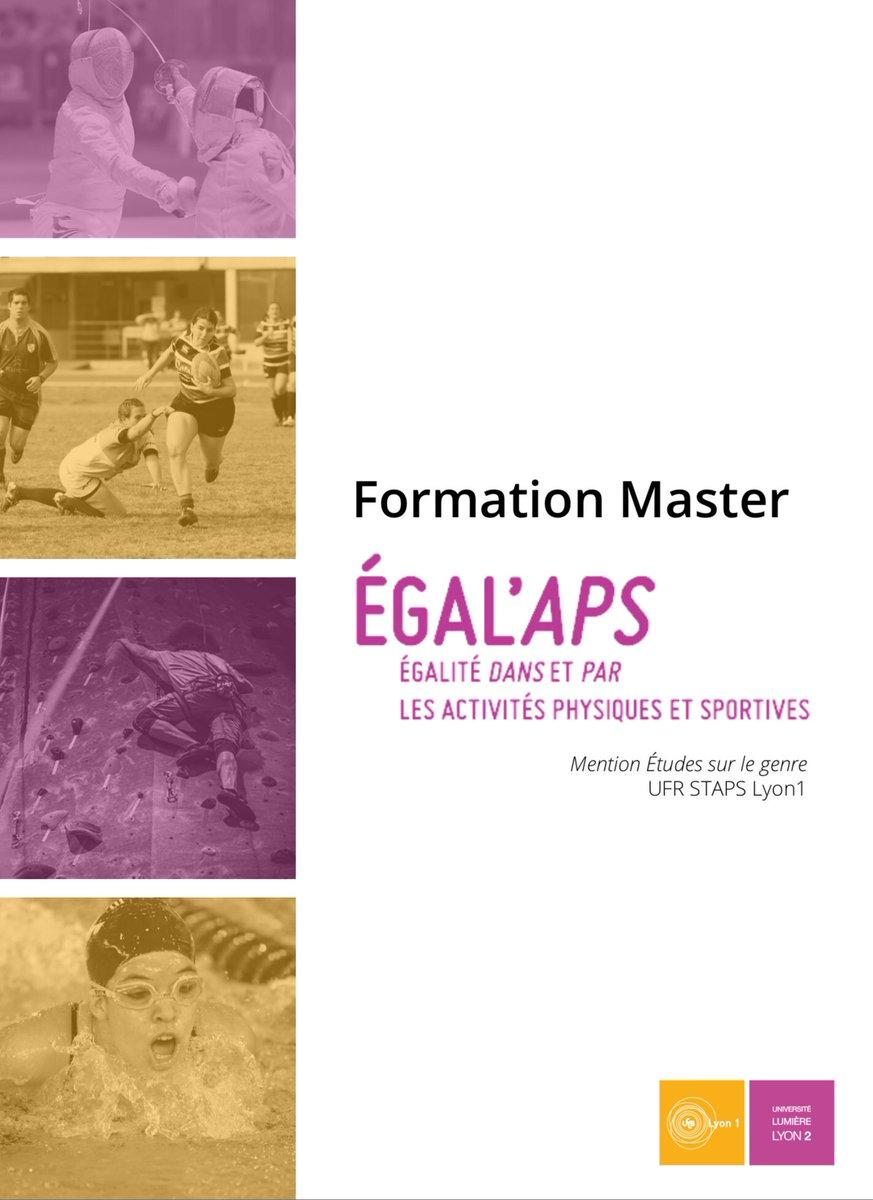 #Master Egal'APS Master mention Études sur le #Genre  UFR #STAPS @UnivLyon1  Un parcours de master unique en France et à l'étranger sur les questions d'#égalité dans et par les activités physiques et sportives.  Informations sur les campagnes d'admission : https://ufr-staps.univ-lyon1.fr/scolarite/les-blogs-licence/info-licence-l3-em/master-egal-aps-2019-2020-1008155.kjsp…
