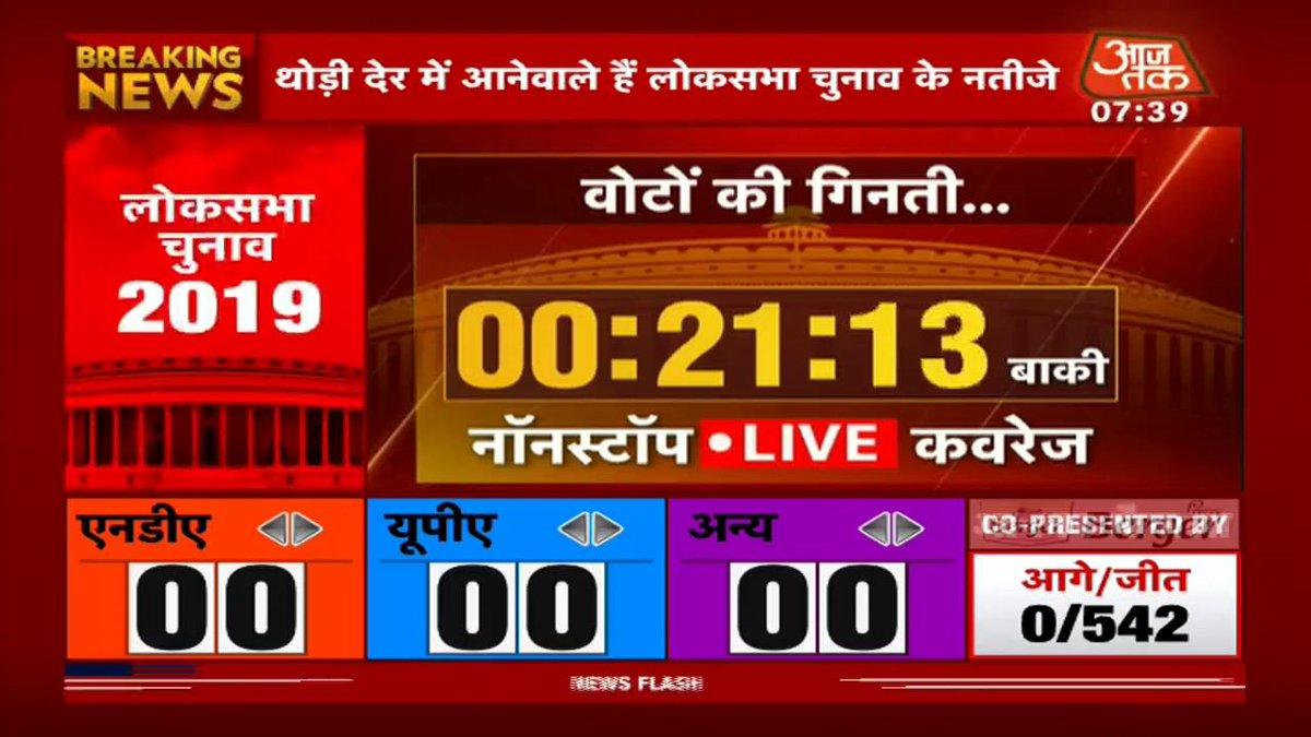 #ResultsOnAajTak #ElectionResults2019गाँधीनगर में शुरू होने वाली है मतगणना. ग्राउंड रिपोर्ट दे रहीं हैं @gopimaniarलाइव: http://bit.ly/at_liveTV