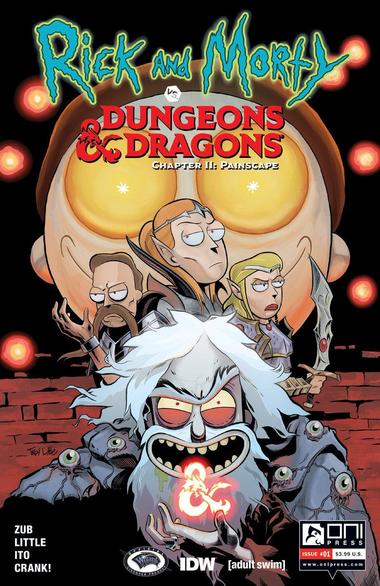 Arriving in Sept: RICK and MORTY VS DUNGEONS &amp; DRAGONS II: Painscape!  &quot;No one gives a d-d-damn about sequels unless they're really good, so no pressure, you f***ing hacks!&quot;   http://www. jimzub.com/rick-and-morty -vs-dungeons-dragons-ii-painscape-arrives-this-fall/ &nbsp; …   Announcement at #DnDLive2019:  https://www. youtube.com/watch?v=QCKoNw FJLEk&amp;t=53m10s &nbsp; …   #DnD #RickAndMorty <br>http://pic.twitter.com/kkvPCWeZqw