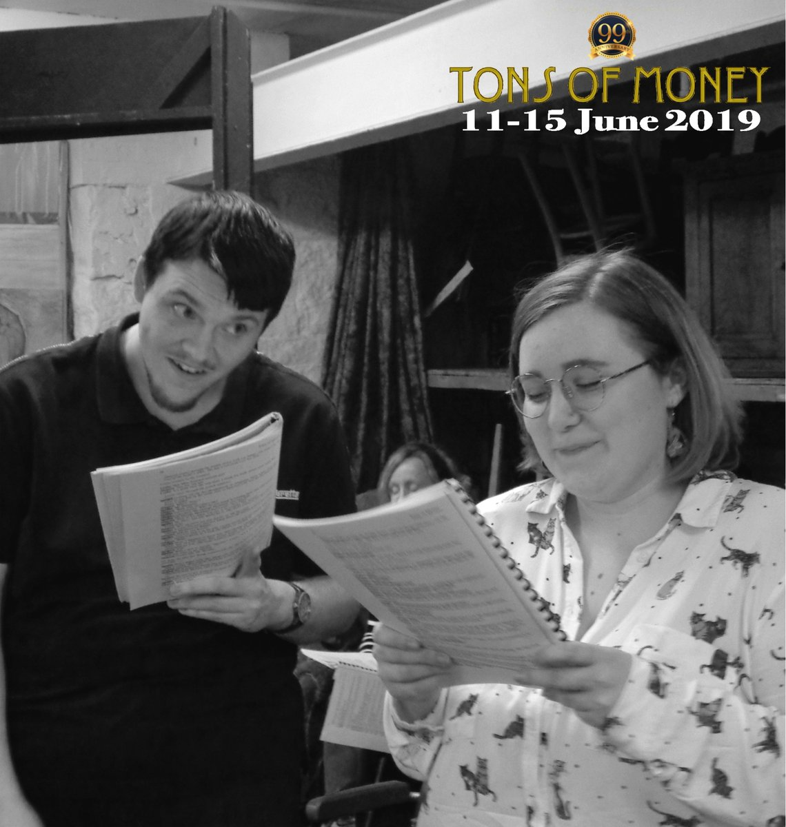 Aubrey and Louise aren't the only ones scheming to get hold of tons of money in next month's inheritance-impersonation farce...  https://www.thelbt.org/shows/tons-of-money/… @theLBT, 11-15 June #Tons #Huddersfield #Ayckbourn