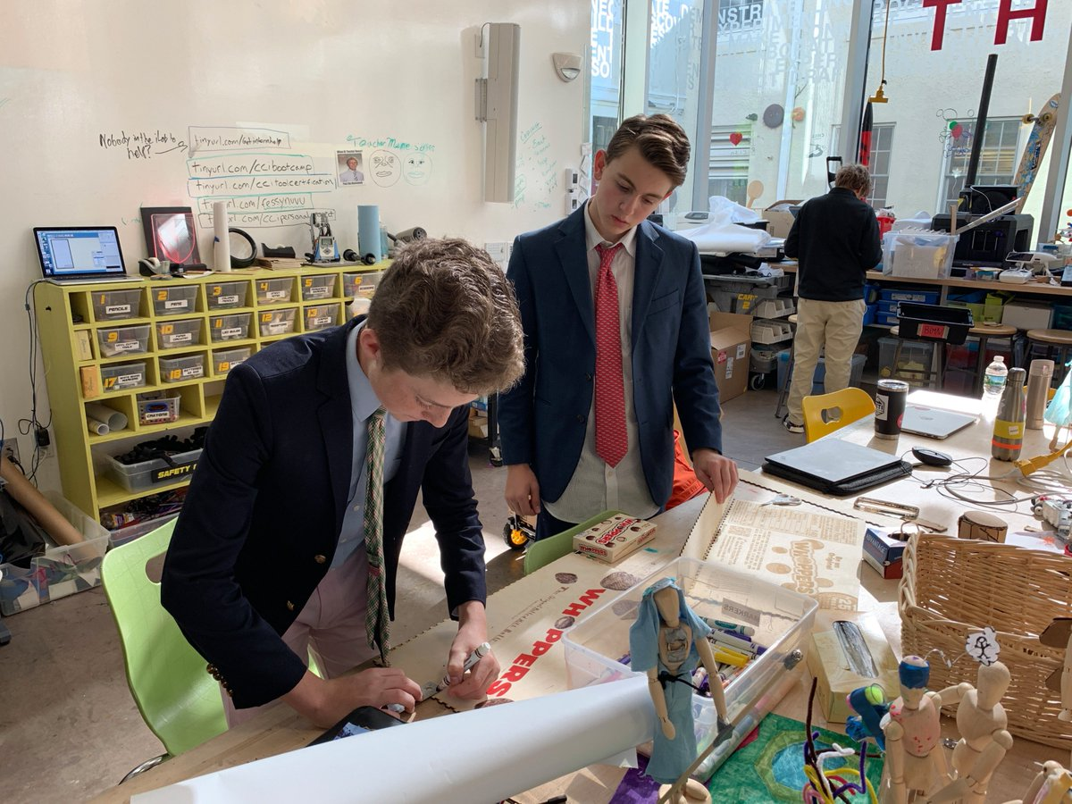 Ms. Lecomte&#39;s math students are finalizing their &quot;scalable candy&quot; projects where they were charged with scaling up their favorite candy or candy packaging in 3 dimensions. #gobigorgohome #sugarbuzz #design #makered #makermath<br>http://pic.twitter.com/GTSMEZSwHF