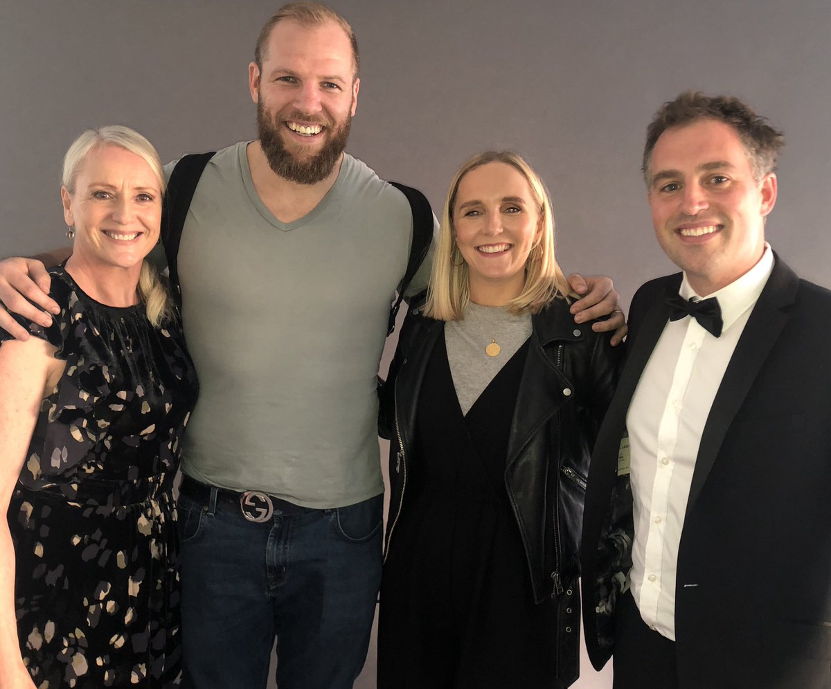 @5liveSport at the @premrugby awards @Louise_Gwilliam @chjones9 and special guest @jameshaskell Hear what we got up to 9-10pm tomorrow(thurs) evening.