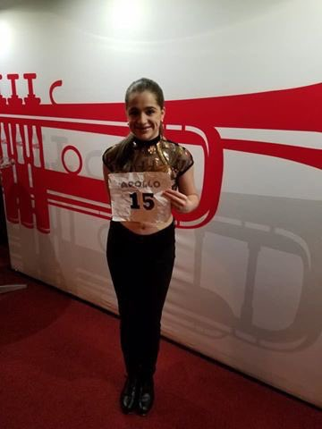 Dancer from Jersey!! Shoutout to our very own Dayna Mignosi! Kill it girl! Leave your heart on the stage tonight &amp; always! Show em how to tap girl!  #GoBIGorGoHOME #AmateurNightApollo @ApolloTheater<br>http://pic.twitter.com/2p2xtWylOV