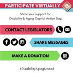 Image for the Tweet beginning: Disability and Aging Capitol Action