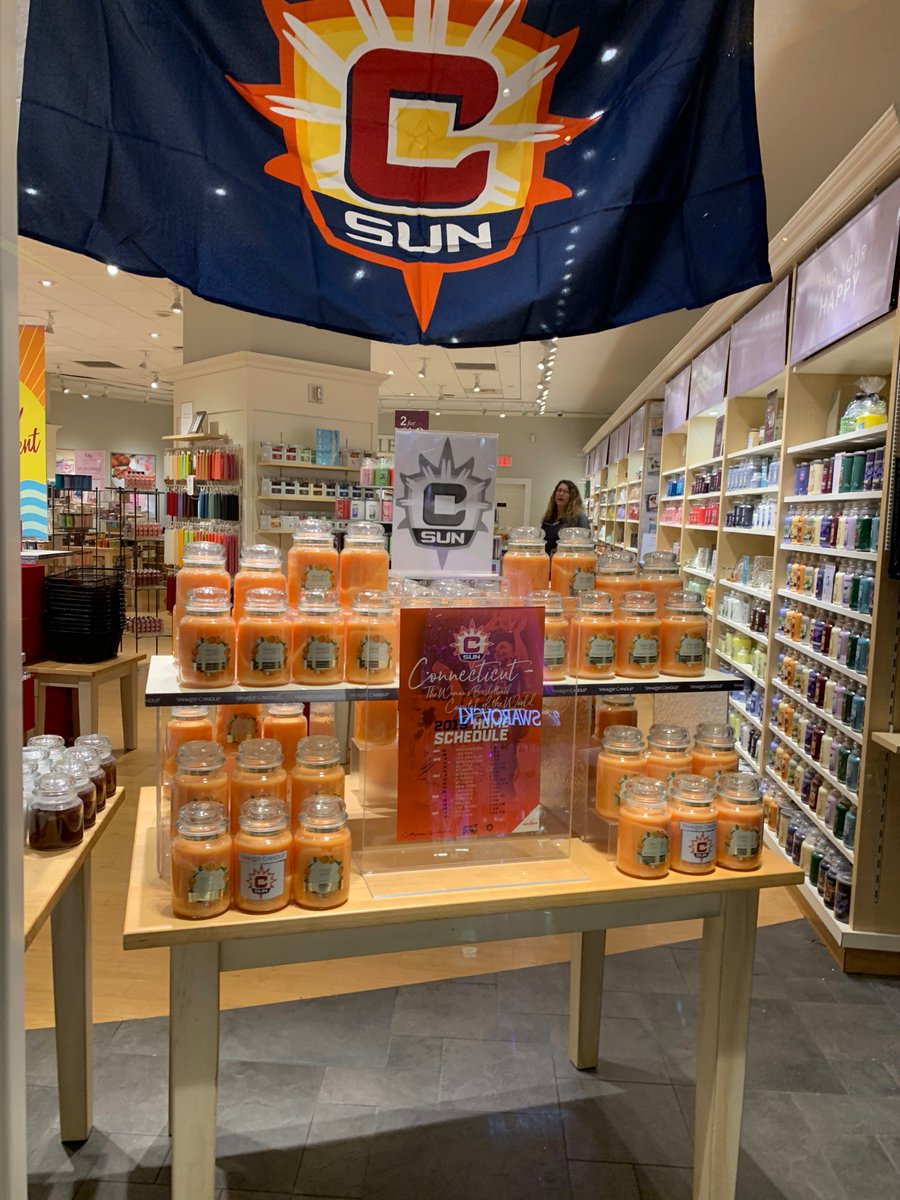 #OrangeInvasion is out in full force throughout @MoheganSun. Stop by @TheYankeeCandle for the specialty Orange Dreamsicle candle.   Check out the other goods you can get throughout the week here: https://on.nba.com/2FX5uXa