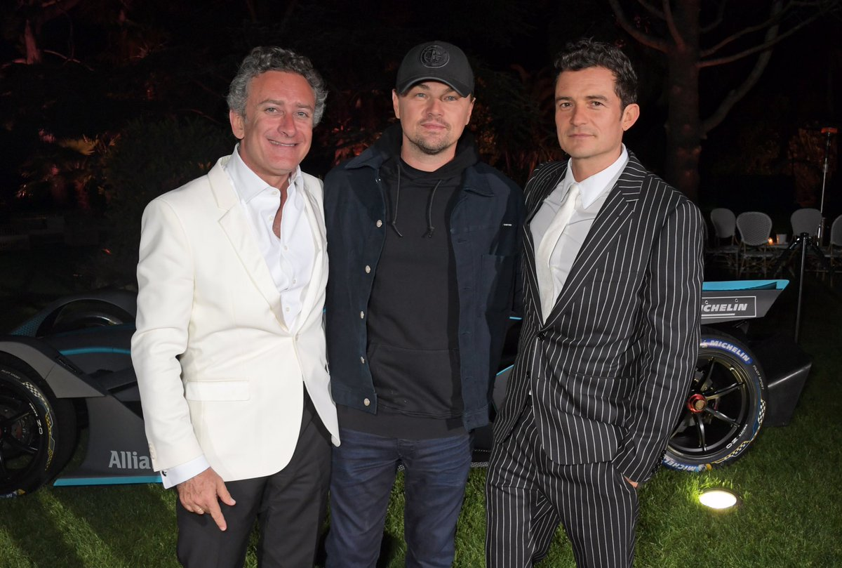#AndWeGoGreen excitement is building with @LeoDiCaprio & Orlando Bloom joining CEO Alejandro Agag at #Cannes2019 🎥🍿🤵#ABBFormulaE