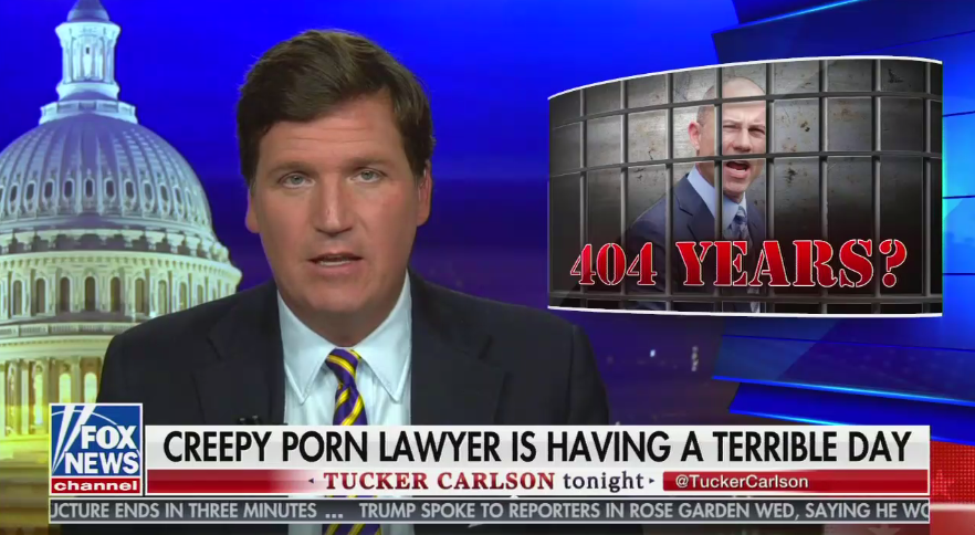 """I mean Avenatti sucks, but Tucker once admitted that he's """"in to"""" 14 year olds experimenting sexually so maybe he shouldn't be calling people creepy"""
