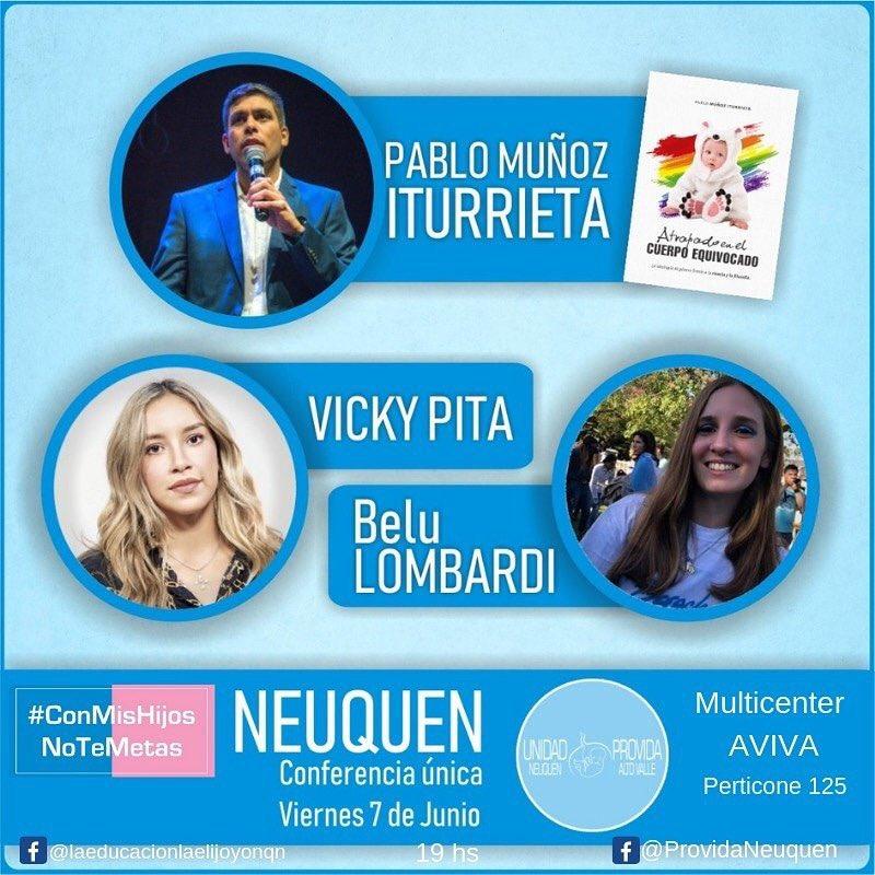 NEUQUEN‼️‼️ Voy a estar participando de una conferencia el 7 de junio! Junto con @PabloMIturrieta y @BeluLombardi_ Los espero ansiosa💙