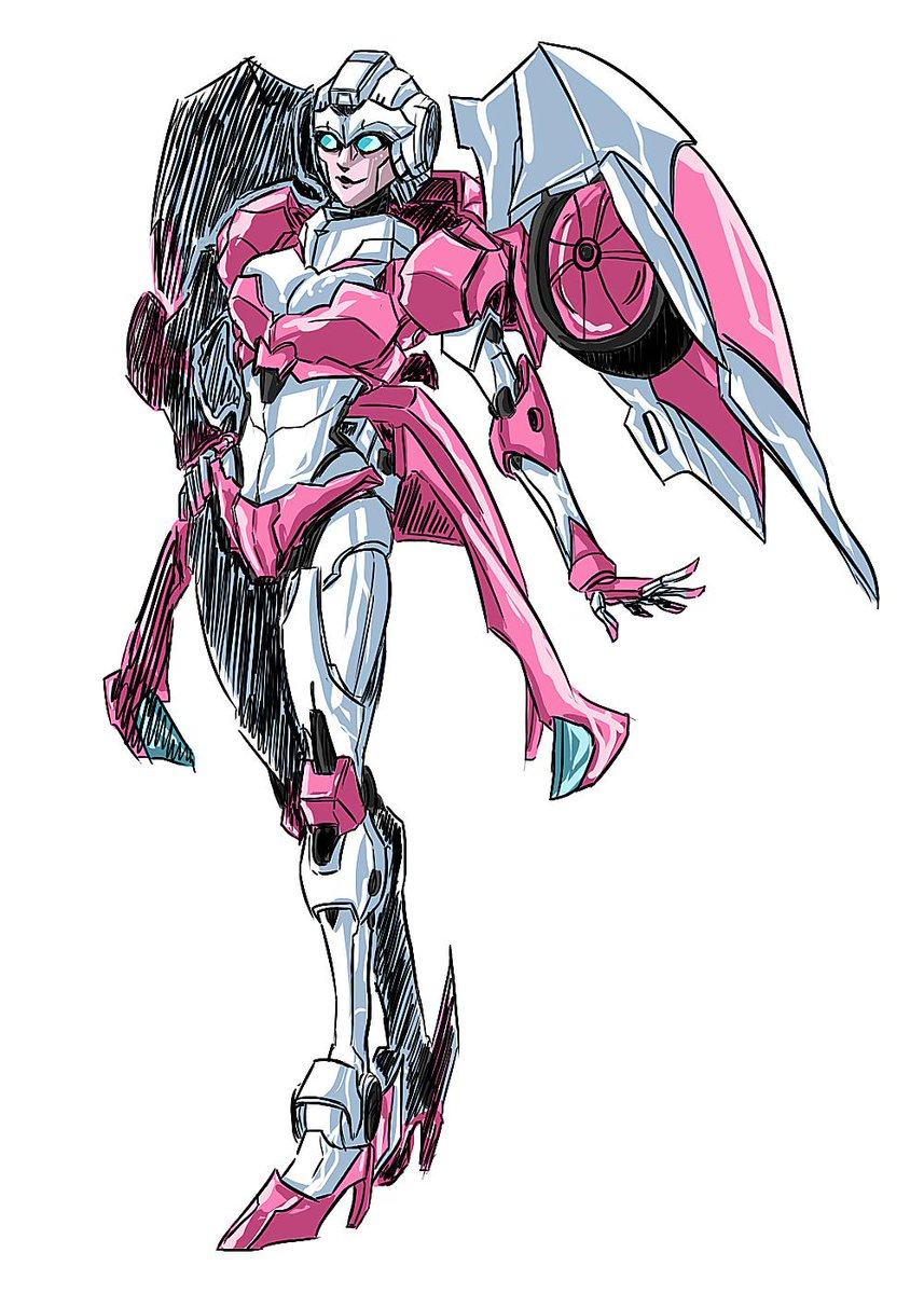I really LOVE the adorable new third-party design of Arcee and felt the urgent need to draw her. I'm such a despicable human being, I know. *rolls eyes* #Transformers