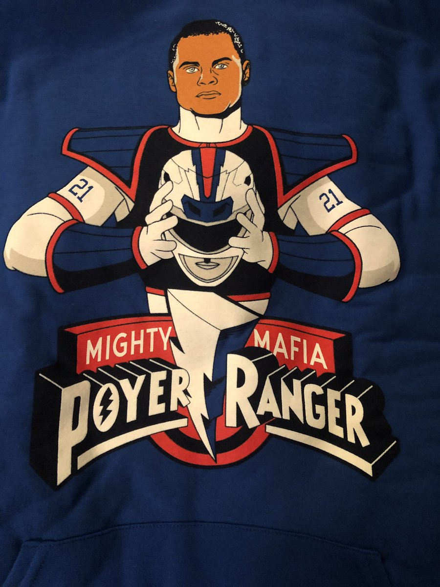 Enhanced by that color rush red! 🥰🔥 got my @26shirts #PoyerRangers hoody today! Can not wait to wear it, they did a terrific job on it!! ❤️💙❤️