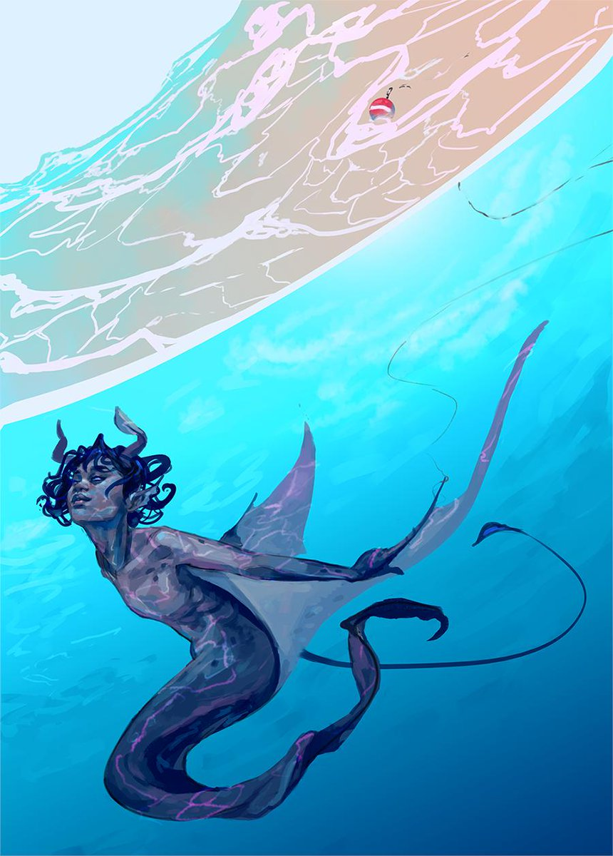 blueberry sea pancake is done!!  finally i finished a #mermay on time<br>http://pic.twitter.com/izE8hz9Pqn