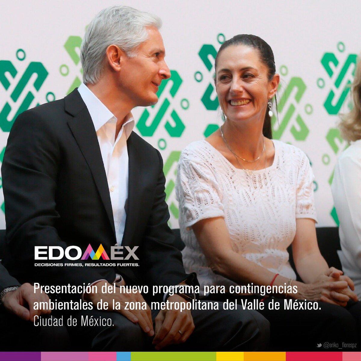 El Gobernador @alfredodelmazo presentó con @ClaudiaShein y el @GobiernoMX el nuevo Programa para prevenir y responder a Contingencias Ambientales Atmosféricas en la @CAMegalopolis, 59 municipios del Valle de México y 22 del Valle de Toluca se ajustarán a las recomendaciones.