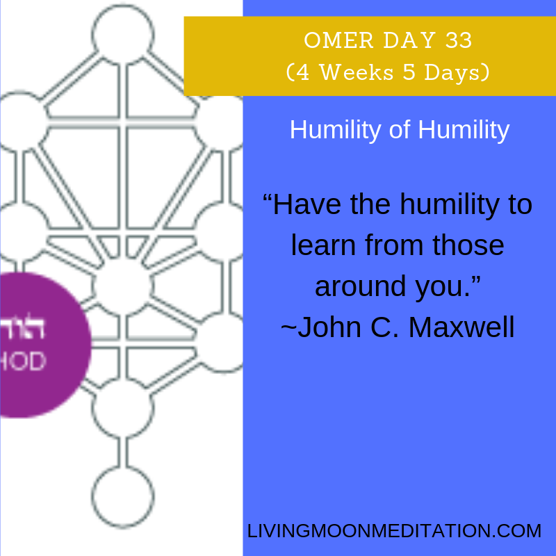 Counting the Omer is a time of breaking free from a slave mentality after celebrating our freedom at Passover. During this fifth week we focus on developing seven aspects of humility (hod). #passover #omer #transformation #metamorphosis #alchemy #judaism #kabbalah