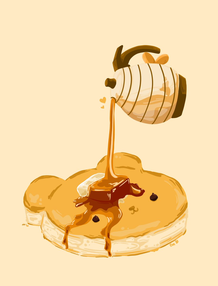 A Bear-y good pancake!      Maybe I'll make this a mini print? <br>http://pic.twitter.com/GWfX3XBVal