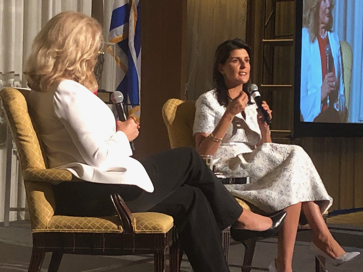 The great US Ambassador Nikki Haley received the Simon Wiesenthal Center's 2019 Humanitarian Award at the Center's Chicago dinner tonight <br>http://pic.twitter.com/RLFq1fLPtQ