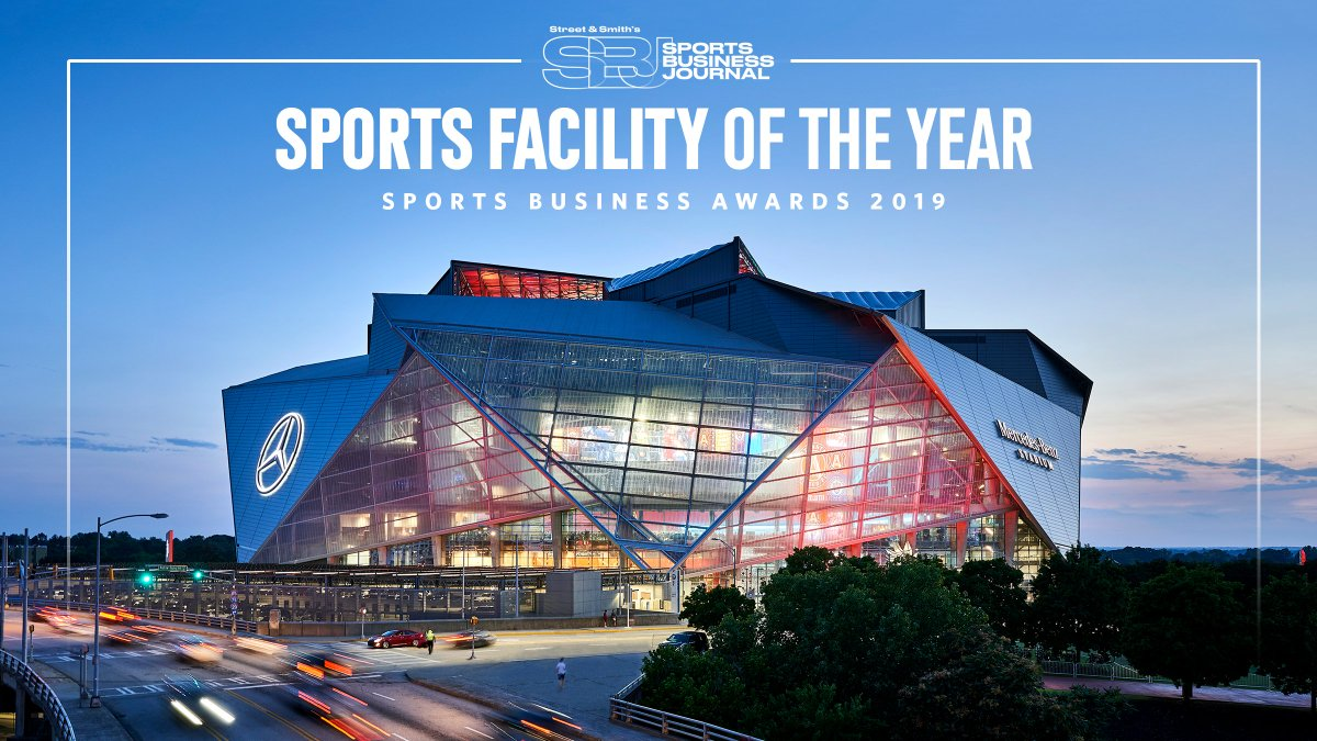 We are honored to be named the Sports Facility of the Year at the #SBJAwards!    Thank you, Atlanta, for your incredible support  #MBStadium<br>http://pic.twitter.com/pXj2vcavww