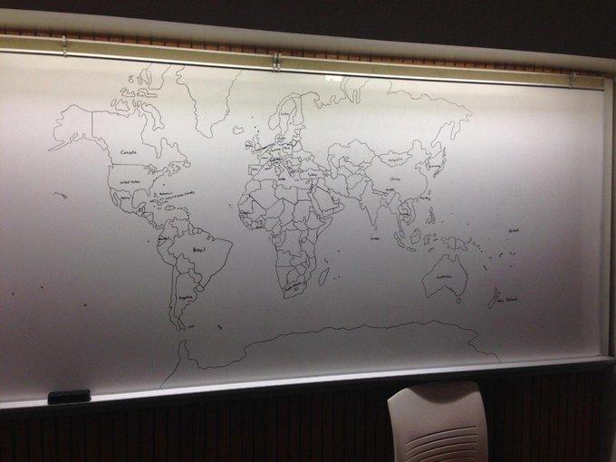 """11 настай аутизмтай хүү """"цээжээрээ"""" зурсан дэлхийн газрын зураг. #Мундаг"""