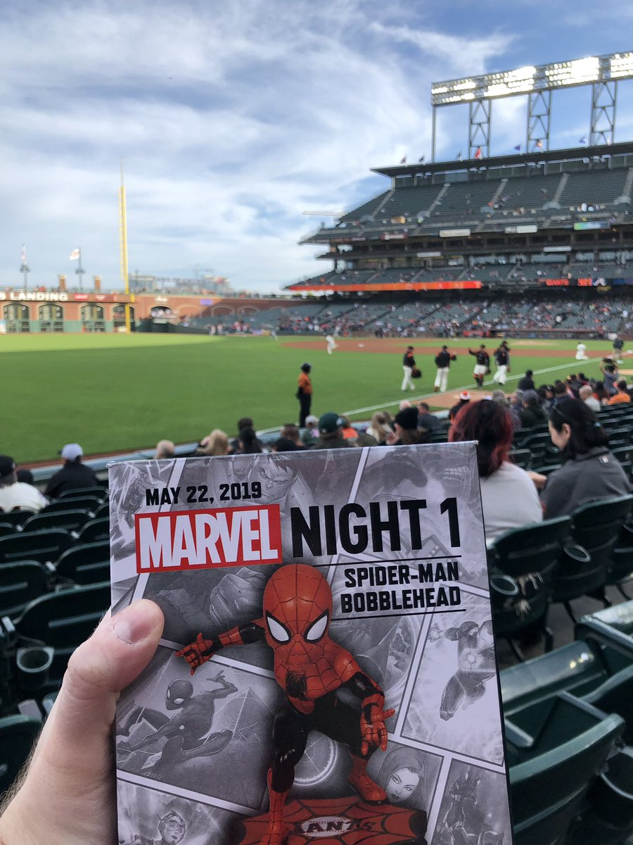 I'd go to more baseball games if they came with Spider-Man toys