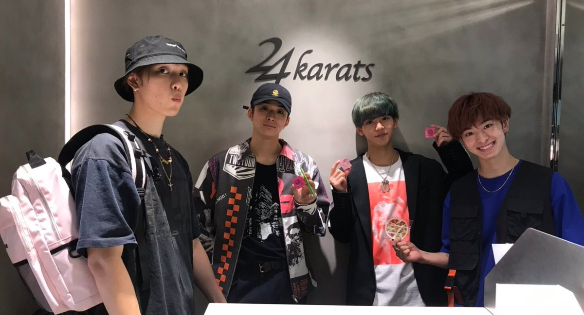【ご来店】 本日、24karats  TOKYO店にFANTASTICS from EXILE TRIBEの堀夏喜さん、澤本夏輝さん、中島颯太さん、木村慧人さんがご来店して下さいました。 またのご来店を心よりお待ちしております!