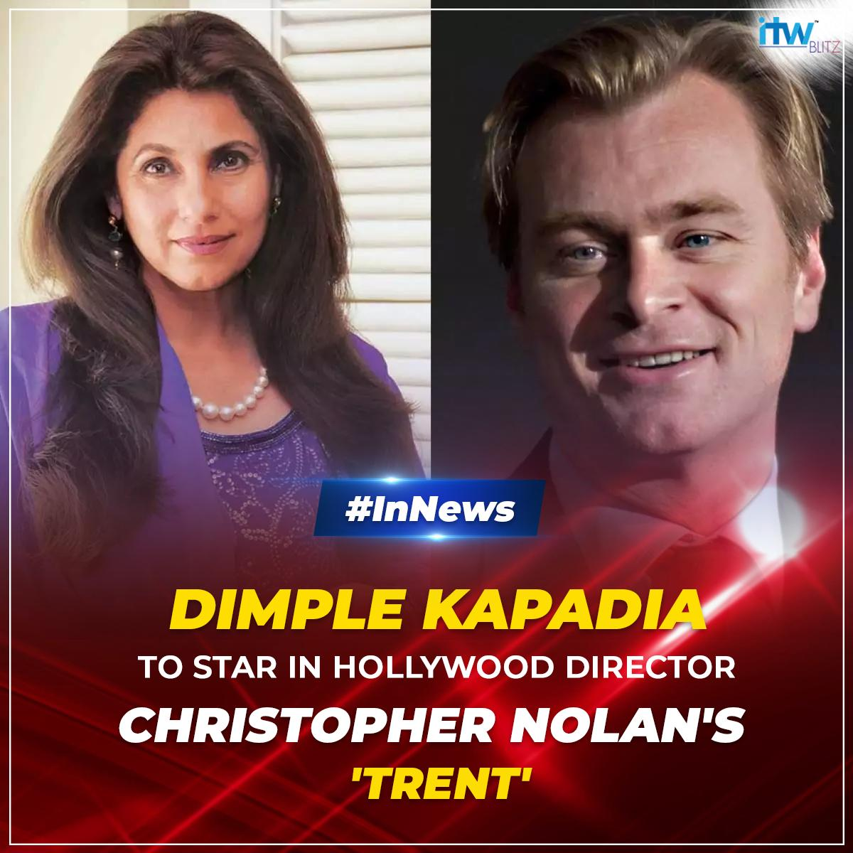 Dimple Kapadia is all set to collaborate with Christopher Nolan in #TENET which will be releasing in July 17, 2020. #InNews #Hollywood #Bollywood #Nolan