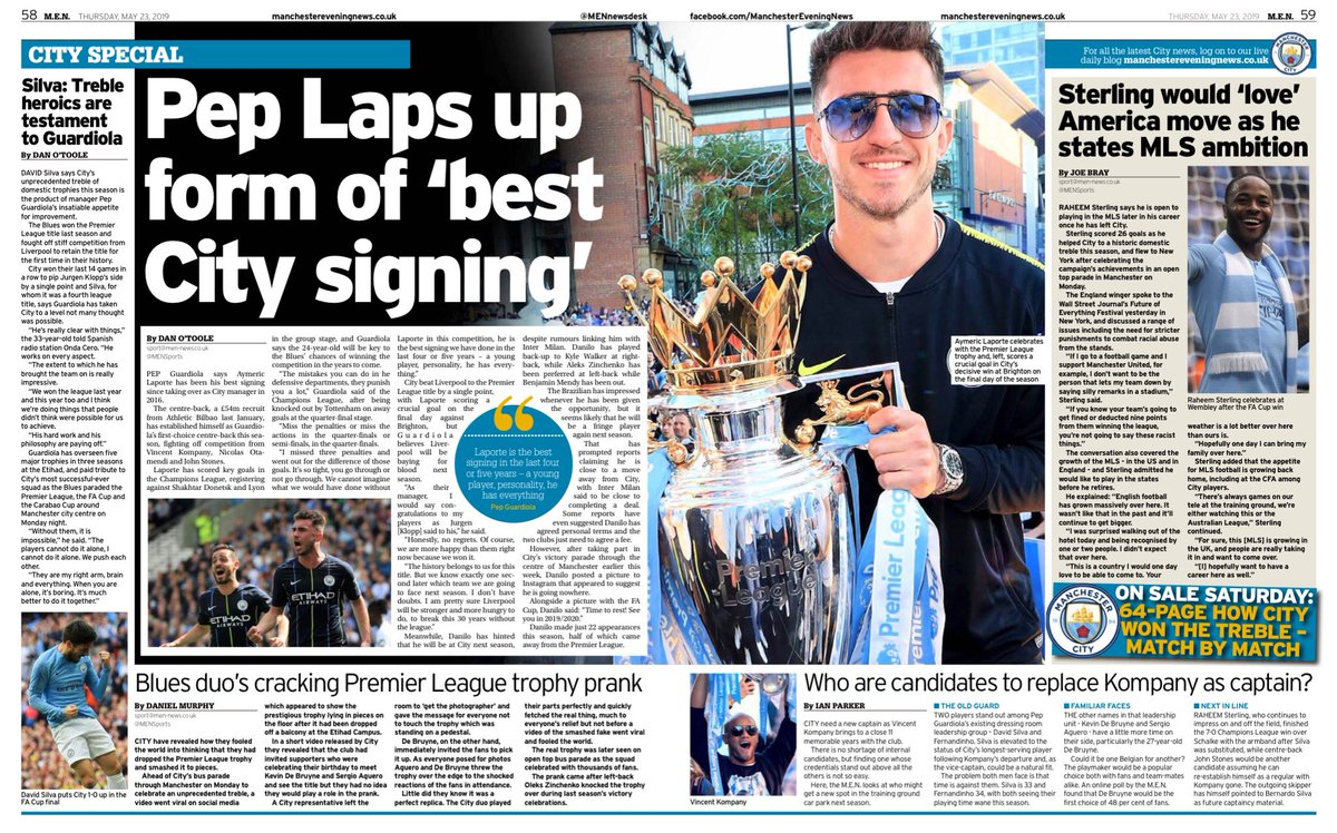 Inside today's @MENSports Pep Laps up form of 'best City signing' #mcfc #mancity #Laporte
