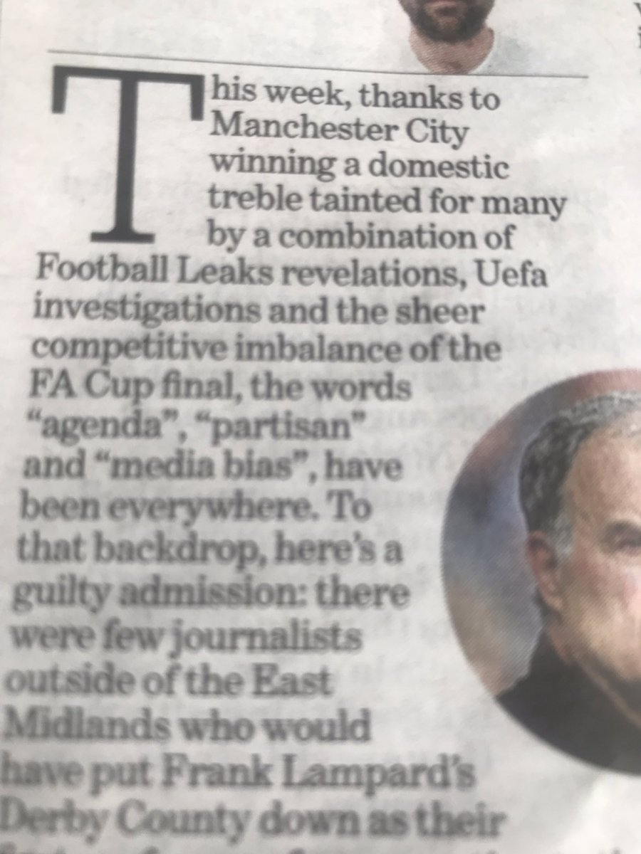 Unbelievable, the story is about Frank Lampard and Derby but somehow still manage to shoehorn in #mcfc
