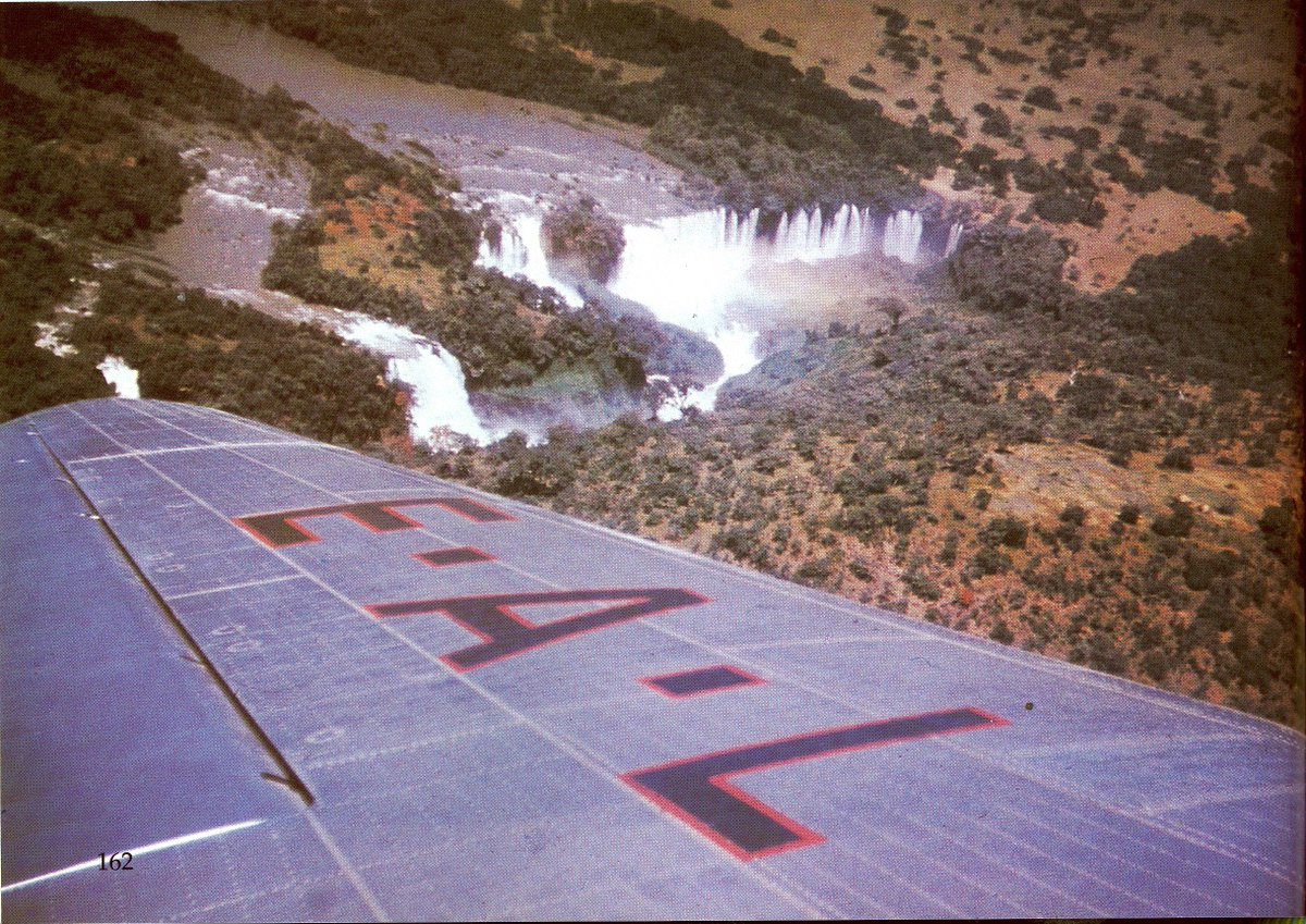 On board Ethiopian, view of Tissiat Falls south of Lake Tana Ethiopia, The source of the Blue Nile. #ThrowbackThursday