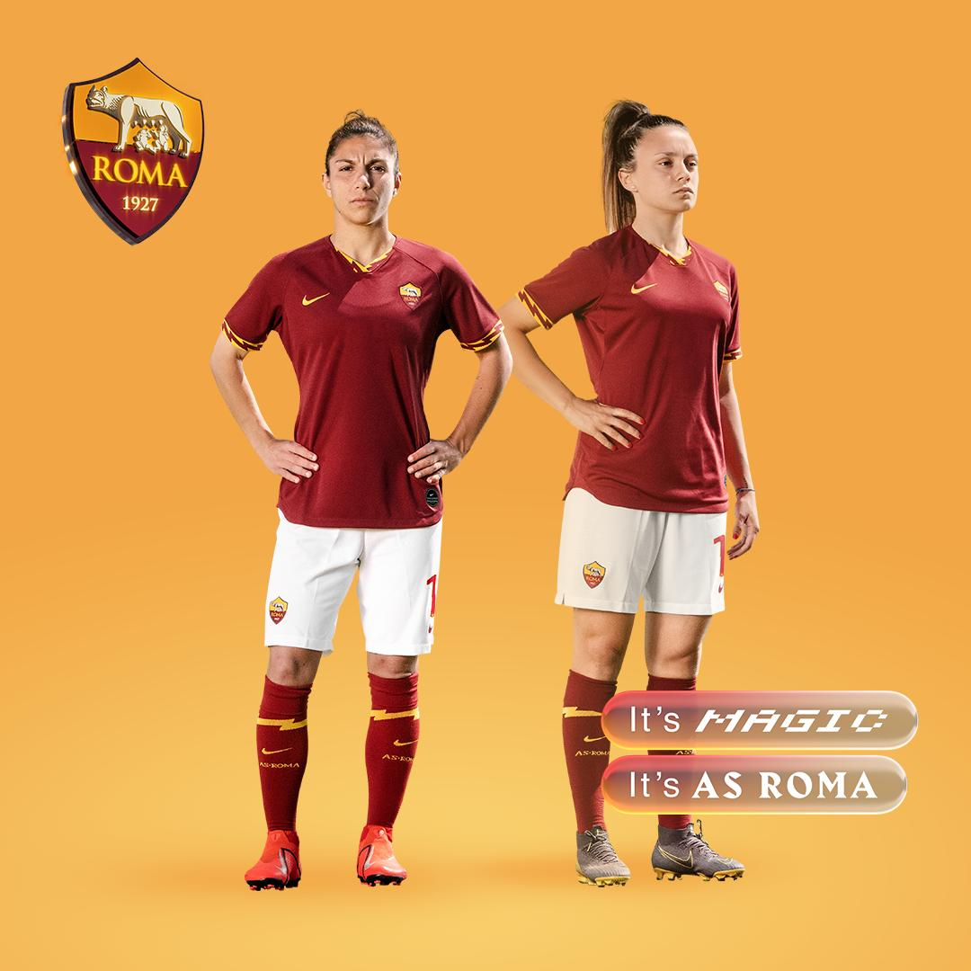 ⚡️ IT'S MAGIC. IT'S #ASROMA ⚡️    Here is our new Nike home kit, which we will be wearing next season! 💛❤️
