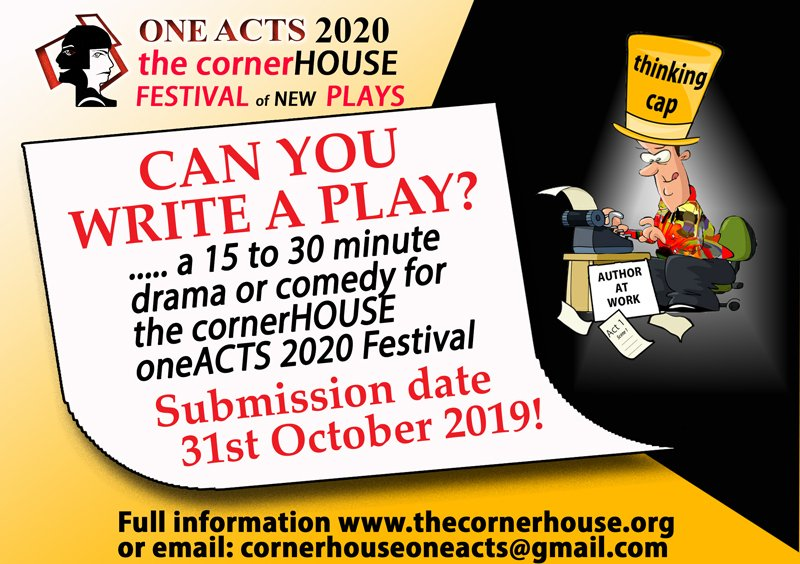 OneActs 2020 is coming! In 2020! But for writers it starts now. Find out how to submit your play here https://t.co/mdRBXaSKOA