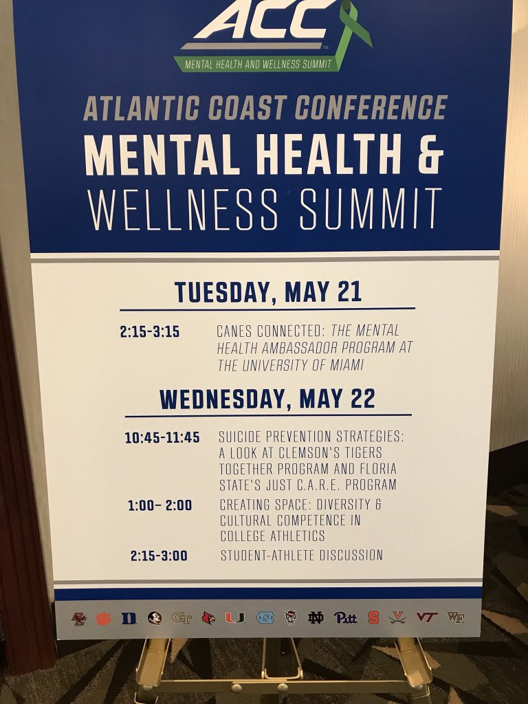 The FIRST ACC Mental Health Summit is in the books! We still have a lot of work to do. #studentwellness <br>http://pic.twitter.com/Rd6FizO1wK