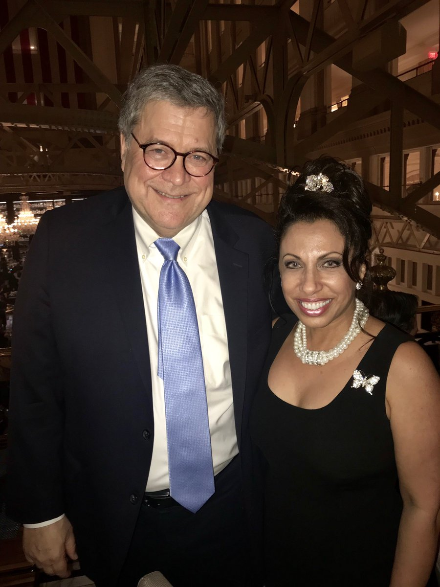 I ran into Attorney General William Barr at the Trump International Hotel in Washington, DC.  The Trump is where all the best people come together!