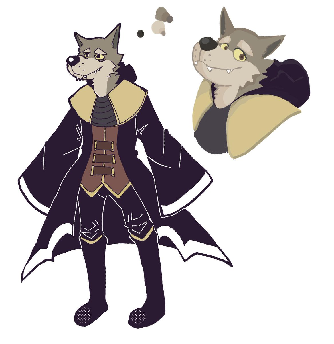 A sorcerer wolf for a DND campaign im going to be part of, my first one also. <br>http://pic.twitter.com/FMZfE2ZAGA