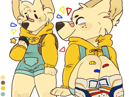 last thing im gonna tweet bout the subject but i just wanna say that having child/ish characters is fine!! i have a kidcore pup i made for comfort a while ago!! but if you see them sexually or draw them in nsfw situations its fucking gross and ill break your legs!! <br>http://pic.twitter.com/bIrMmOnswj