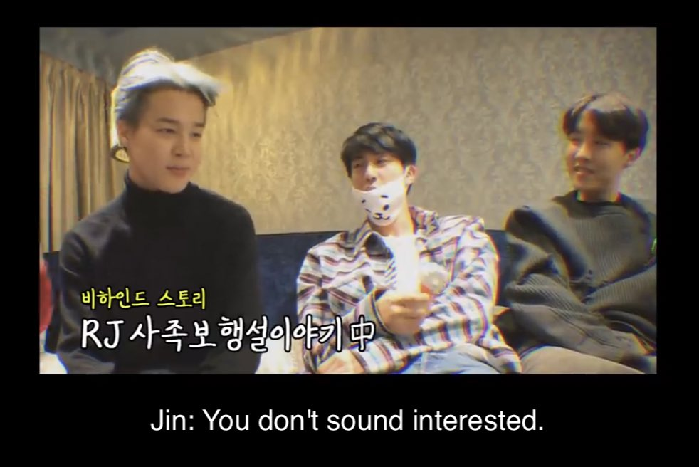 bruh jimin really ate his words on this one now he cant even go a second without seeing an RJ even the staff out there w RJ merch. jin really said &quot;bet&quot; huh? <br>http://pic.twitter.com/L0JqmZJRH1