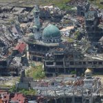 Image for the Tweet beginning: Shattered Philippine city of Marawi