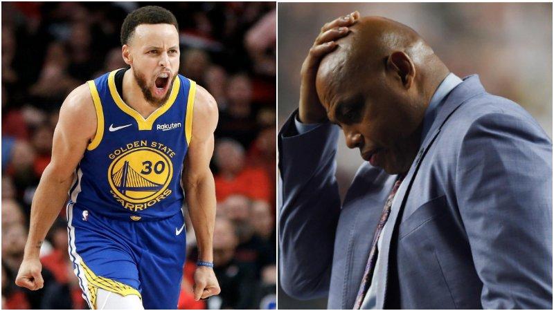終於被打服了!Barkley終於承認柯瑞的強大,他還曾表示聯盟前五沒有Curry!(影)